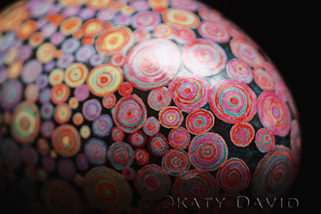 "©Katy David, ""Gloaming"" 2015, Rhea Eggshell, aniline dye, varnish"