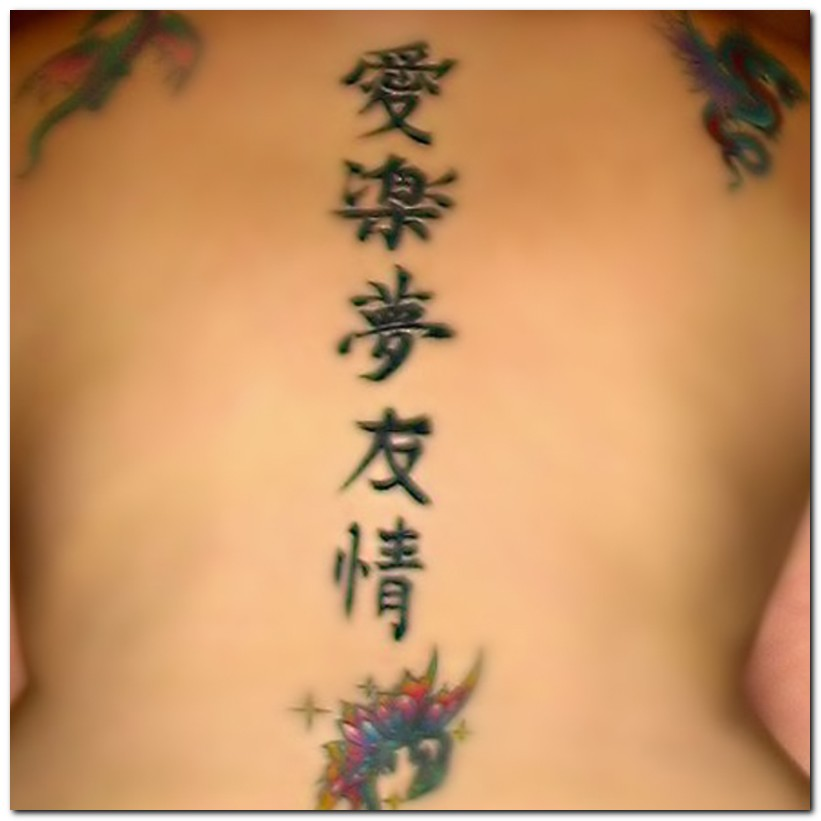 japanese word tattoos. chinese tattoo letters.