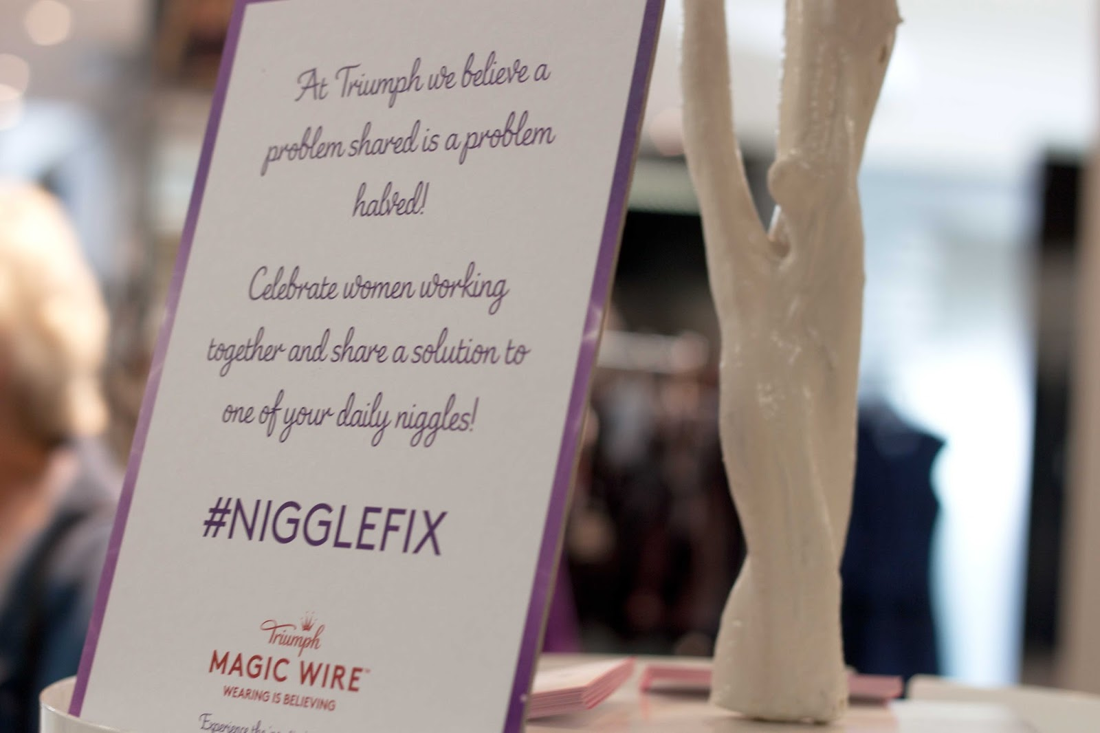 THE TRIUMPH MAGIC WIRE BRA NIGGLE FIX EVENT