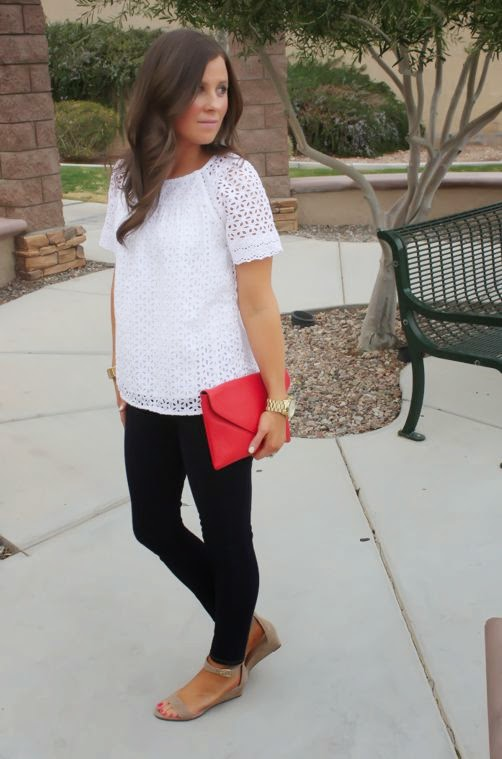 Floral Eyelet Dressy Casual -