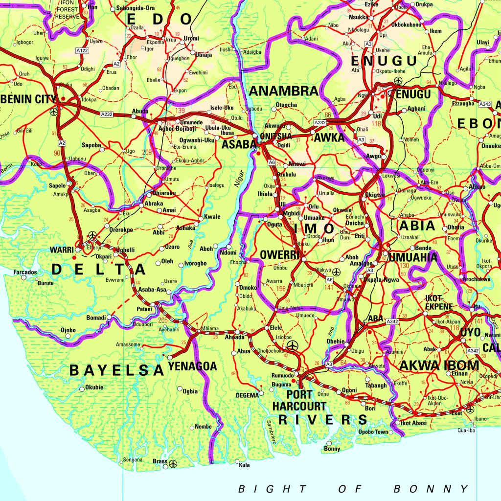 sample 1 of nigeria map click to enlarge