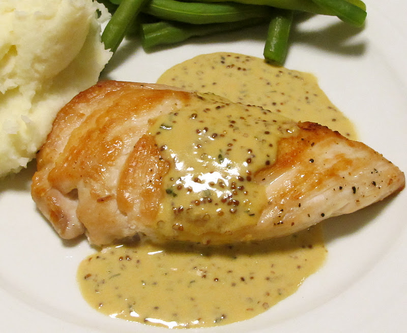 ... Recipes: Sautéed Chicken Breasts with Whole-Grain Mustard Sauce