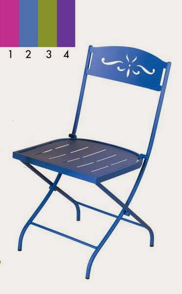 Silla forja decoracion, silla plegable forja