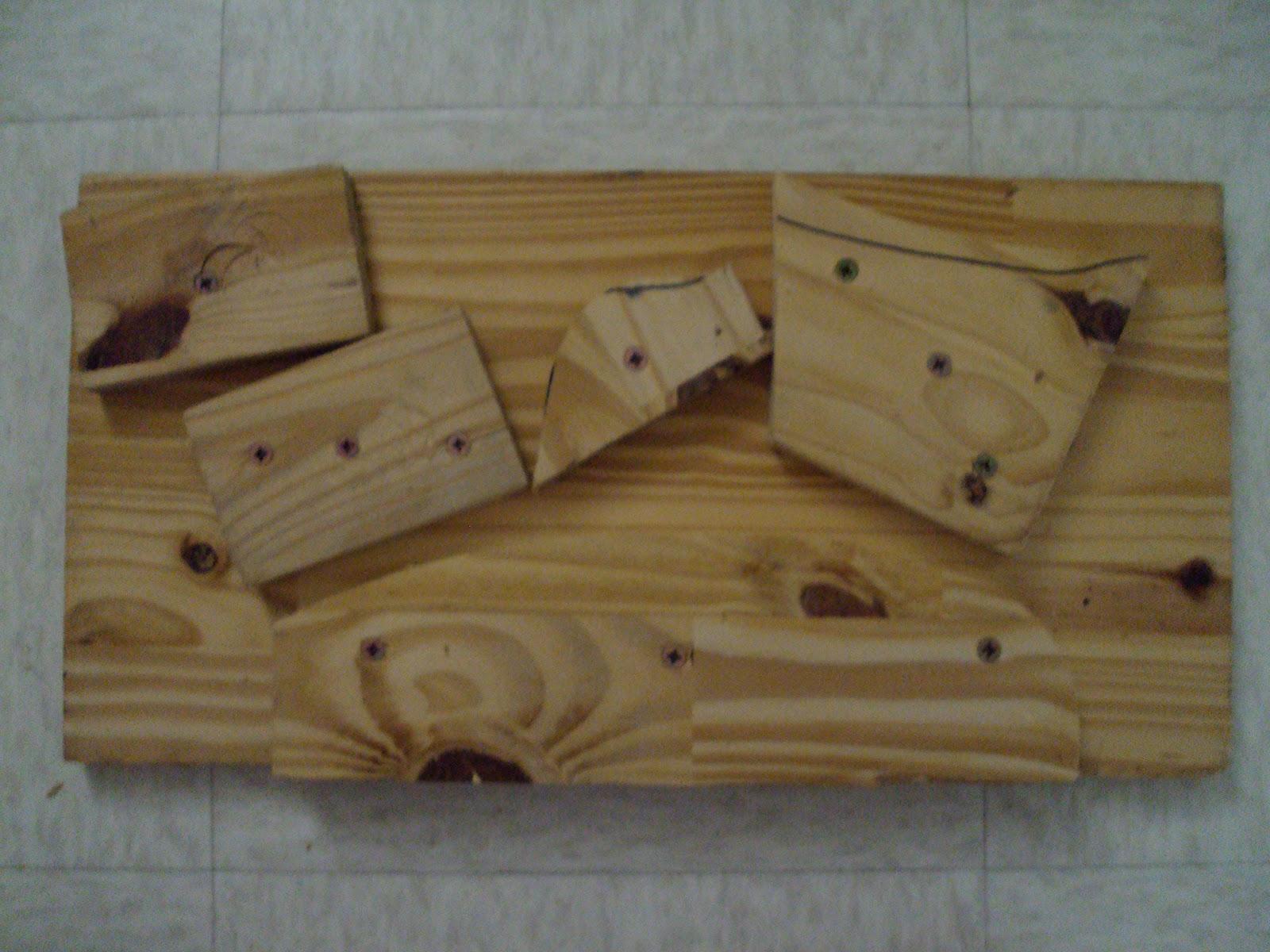 à bois, créer des prises plus complexes et peindre la poutre ~ Poutre Escalade Bois