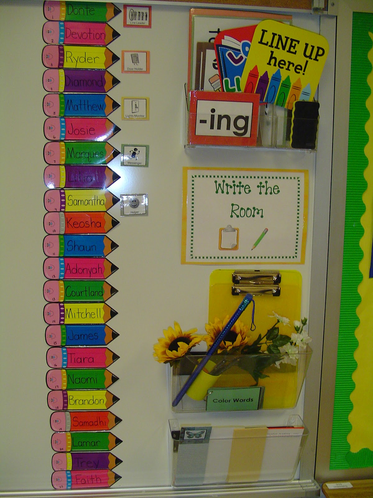 Marvelous Helper Chart And Write The Room