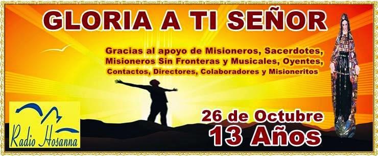 Radio Hosanna 1450 AM.  La Misionera.