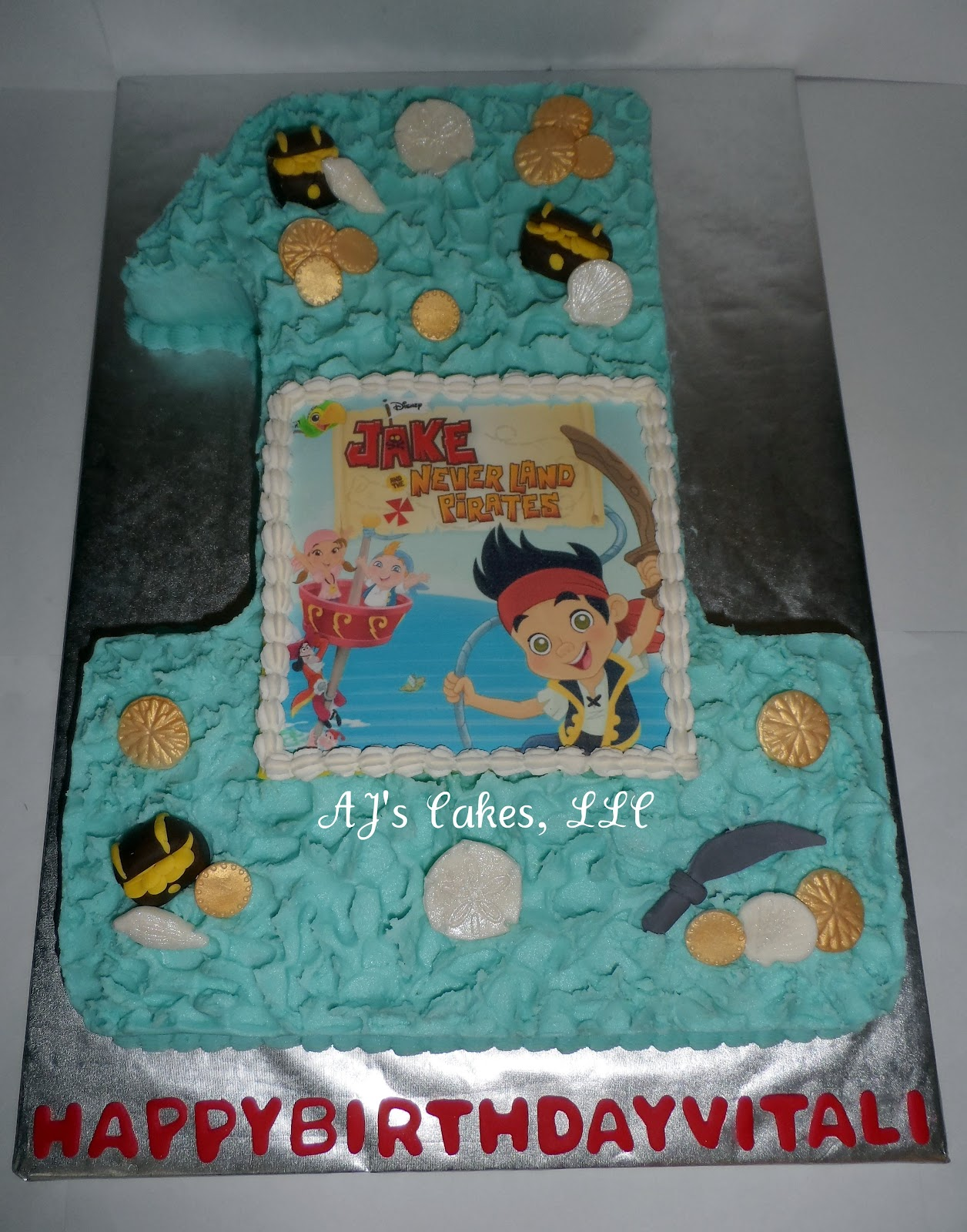 Ajs Cakes Jake And The Neverland Pirates Cake