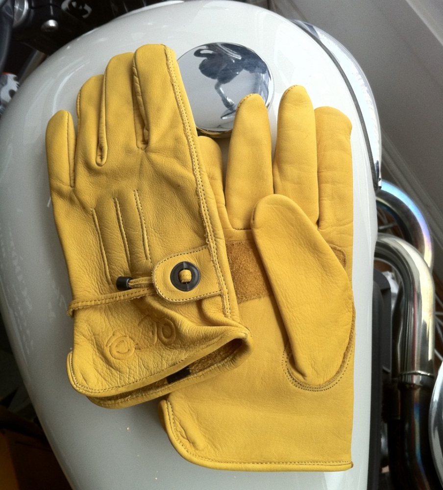 Brown Cafe Racer Gloves