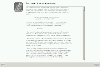 Proxmox license agreement