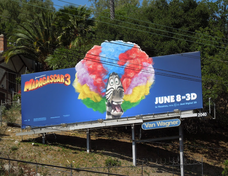 Madagascar 3 Zebra billboard