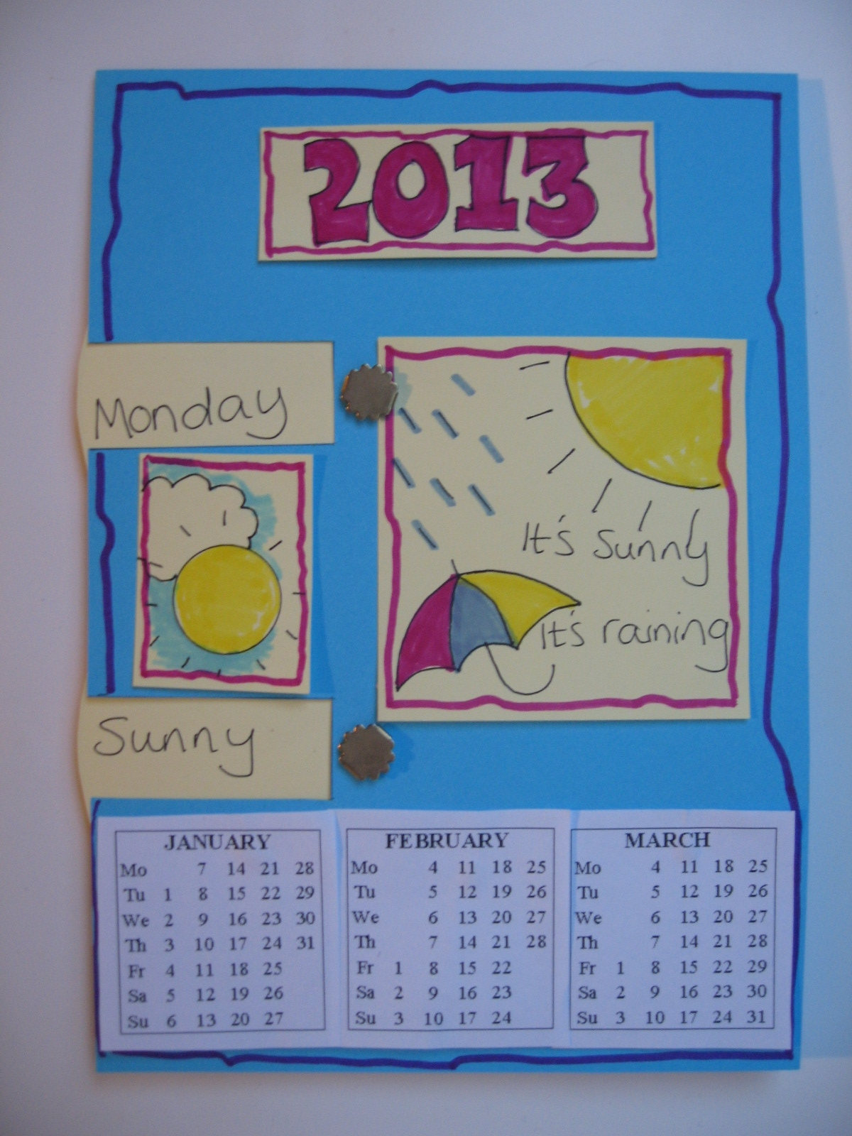 Calendar Kids Craft : Craft with jack kid s calendar