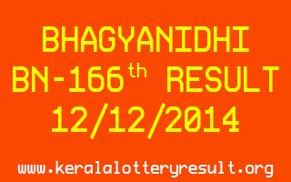 BHAGYANIDHI Lottery BN-166 Result 12-12-2014