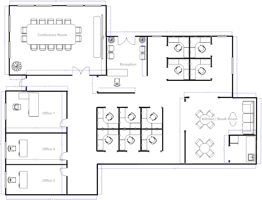 Foundation dezin decor office layout vastu tips for Office layout design online