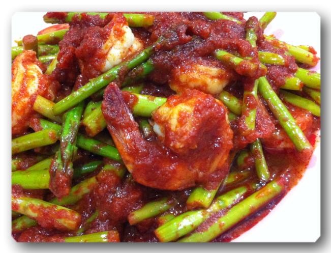resep sambal asparagus