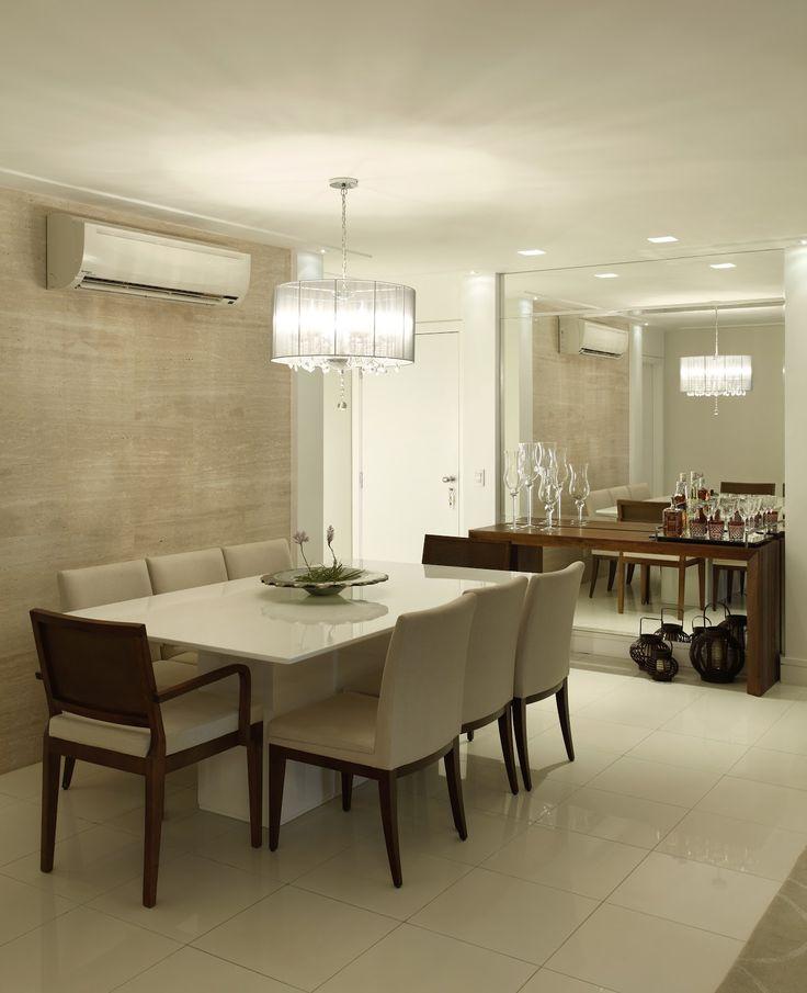 Sala De Jantar Retangular ~  10 salas de jantar com espelhos!  Jeito de Casa  Blog de Decoração