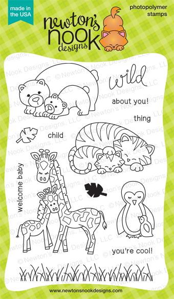 Wild Child Stamp set by Newton's Nook Designs | Baby Animals | Zoo