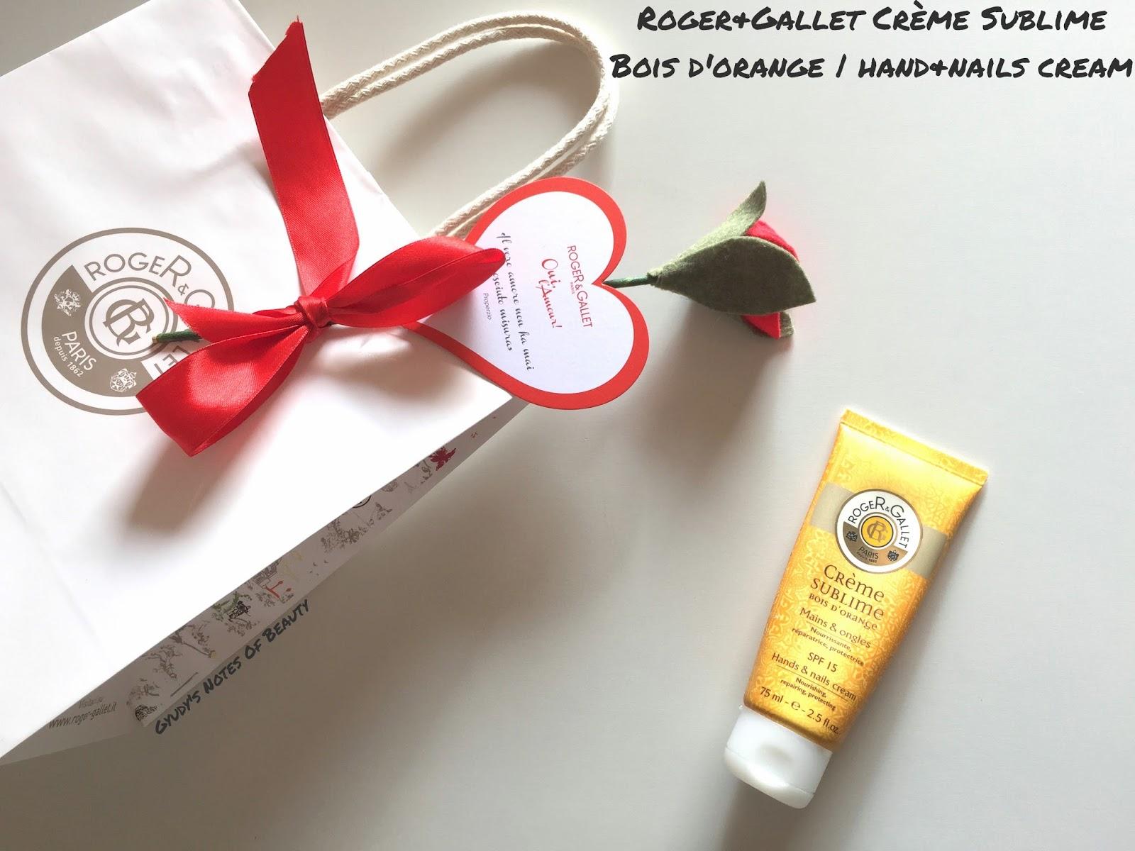 Roger&Gallet Crème Sublime Bois D'Orange hand and nails cream