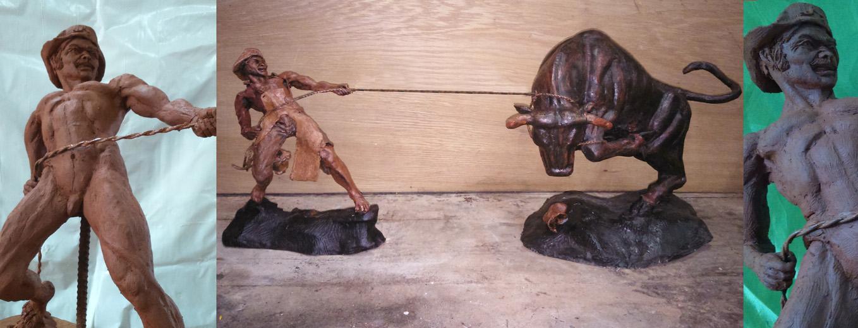 Escultura con dos figuras