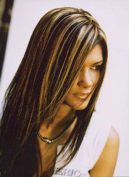 dark brown hair with caramel highlights hair inspiration