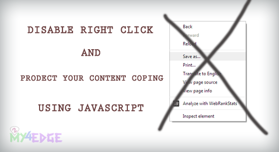 disable right click protect from copy using javascript