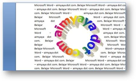 gambar contoh teks yang mengikuti gambar di Microsoft Word