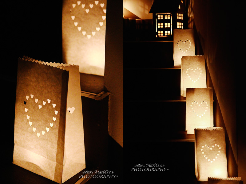Luci di Natale, lanterne di carta