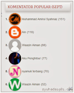 segmen,blogwalking,komentator popular, top commentator