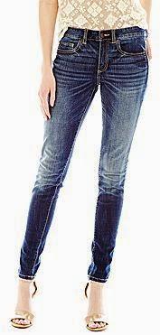 JCPenny Dark Rinse Skinny Jeans