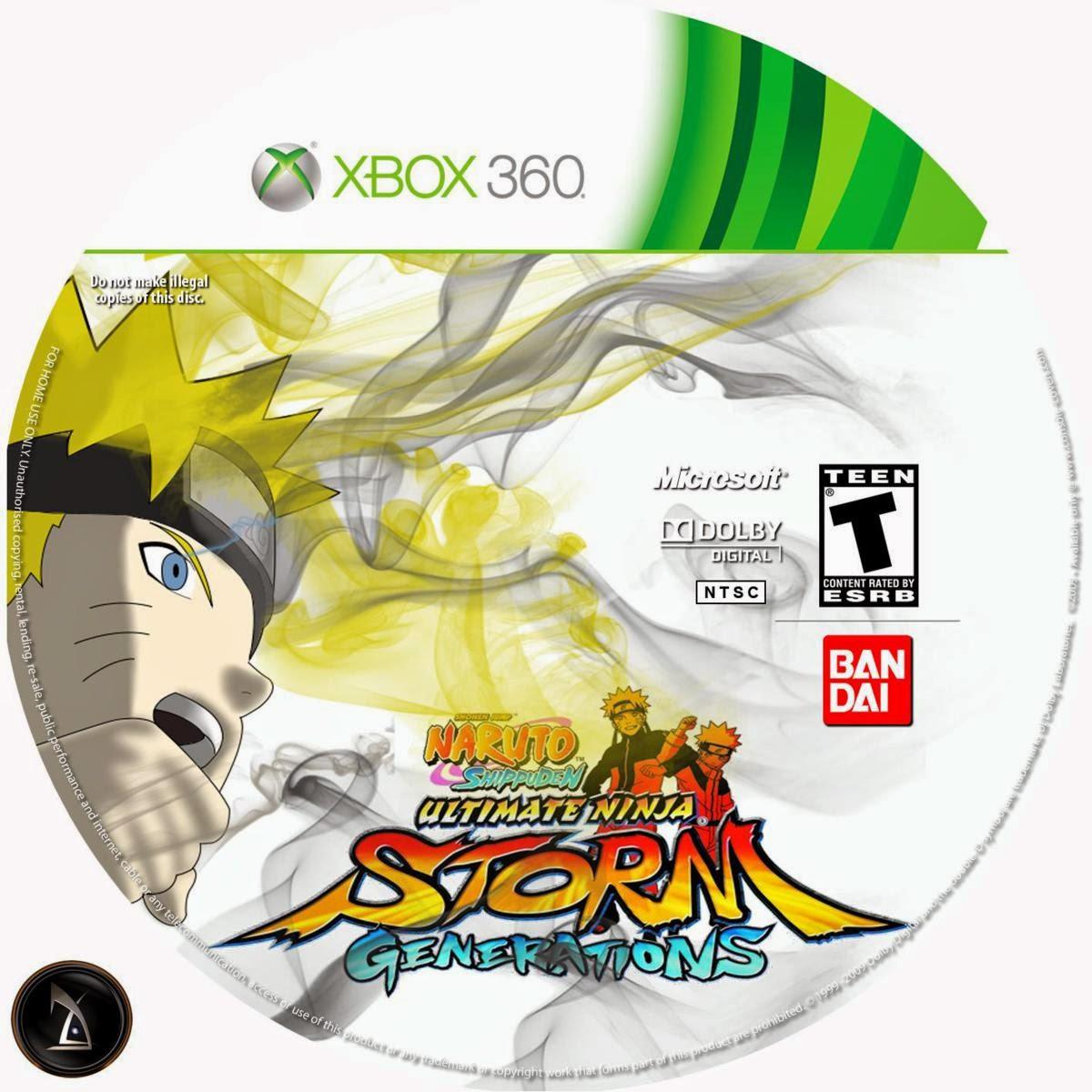 Capa Naruto Shippuden: Ultimate Ninja Storm Revolution XBOX 360