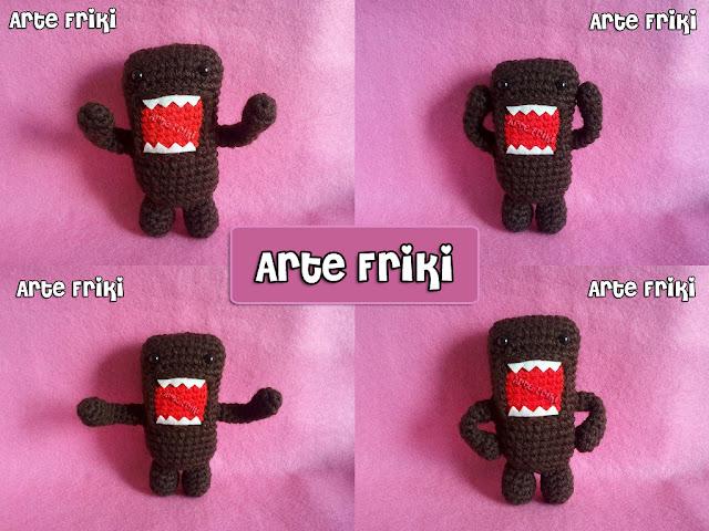 domo-kun amigurumi crochet ganchillo plush doll peluche muñeco