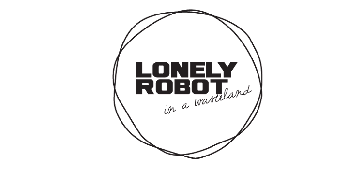 Lonely robot in a wasteland