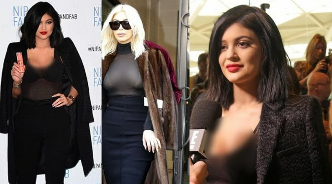 Foto Topless Kylie Jenner di Paris Fashion Week