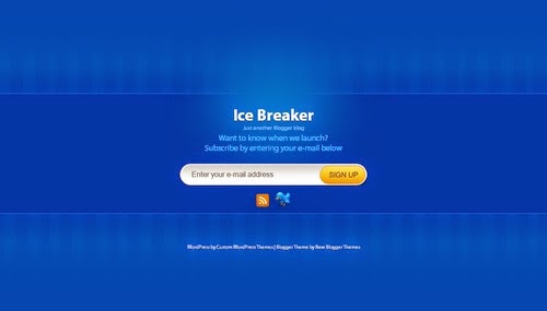 Ice Breaker - Free Blogger Template