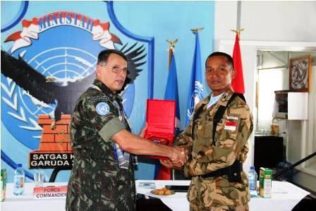Satgas Kizi TNI Konga XXXII-B Kompi Terbaik di Haiti