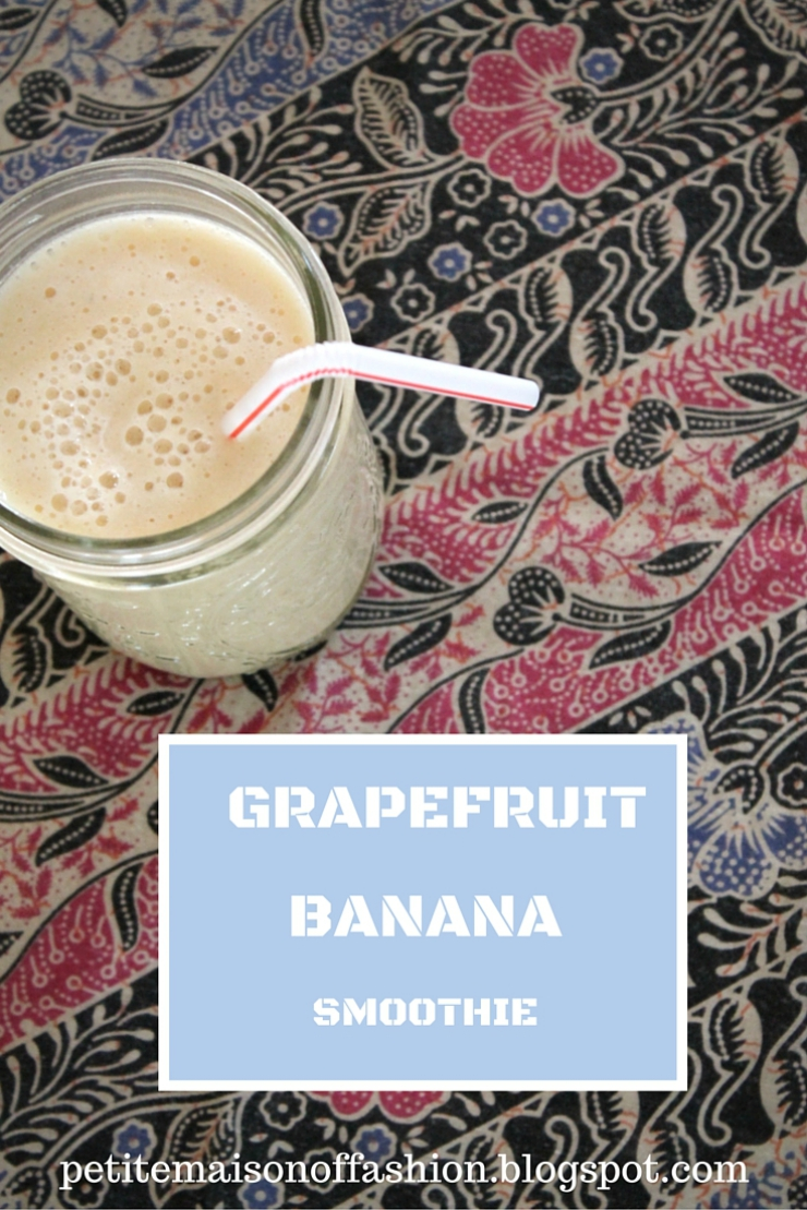 Grapefruit banana healthy smoothie