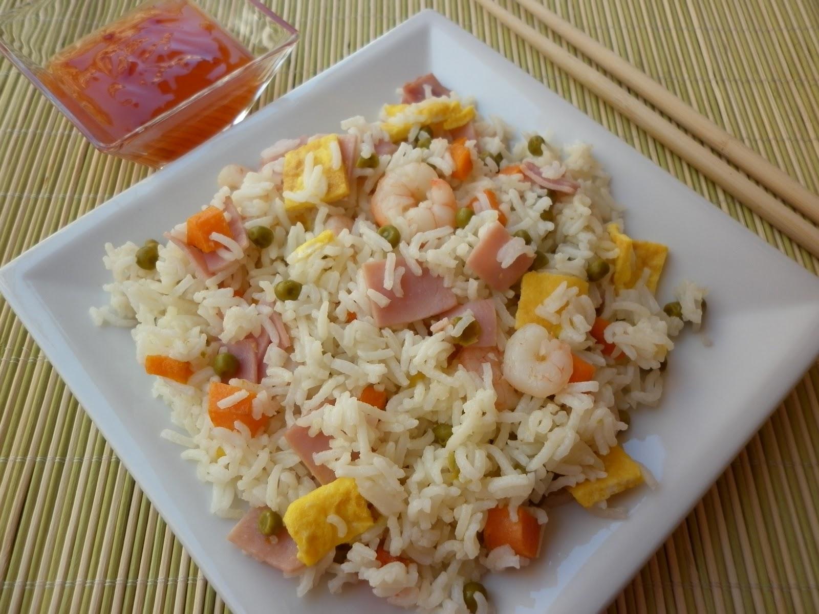 Espe saavedra en la cocina arroz tres delicias con gambas for Cocinar arroz 3 delicias