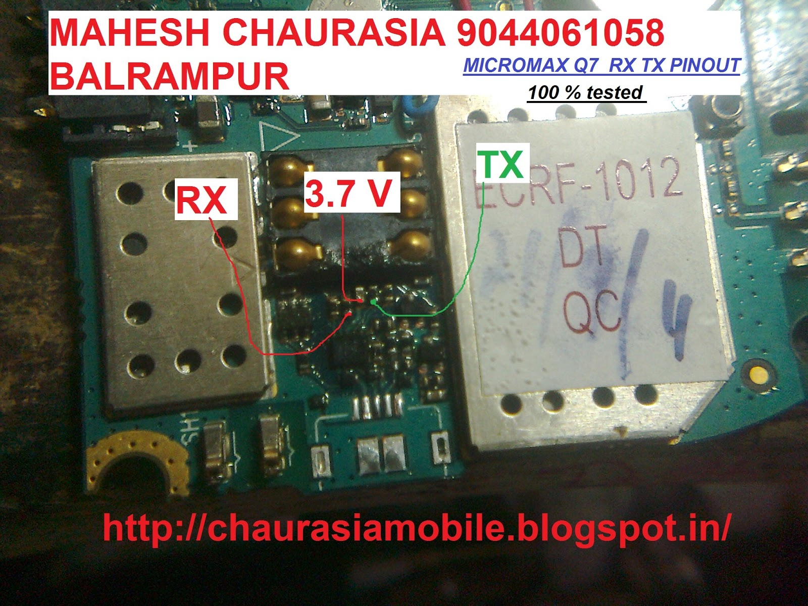 Micromax Q RX TX Find Out And Reball CPU Success By MAHESH