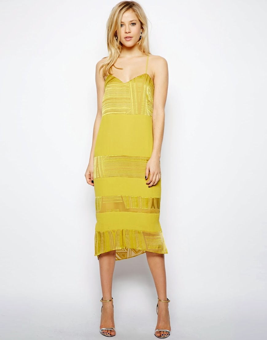 asos yellow dress