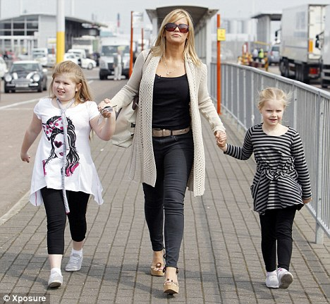 Kerry Katona with Molly & Lily sue