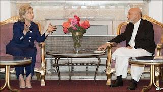 Clinton in Afghanistan to Encourage President Hamid Karzai