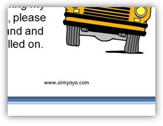 Gambar:  Contoh footer di slide presentasi powerpoint