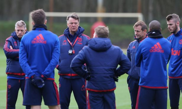 Mixed messages: There have been whispers of discontent at Van Gaal's training methods