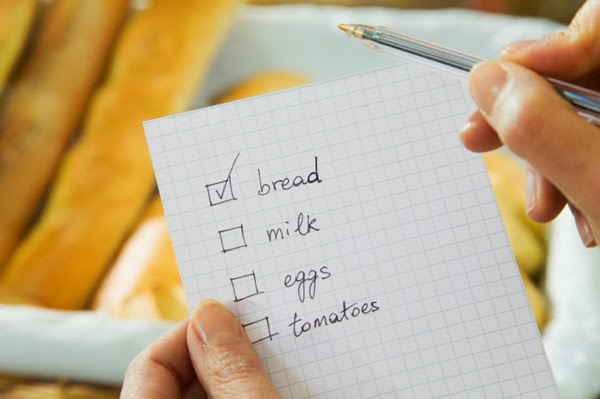 Shopping list for meal planning
