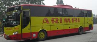 daftar rute dan tarif bus arimbi dan bima suci terbaru