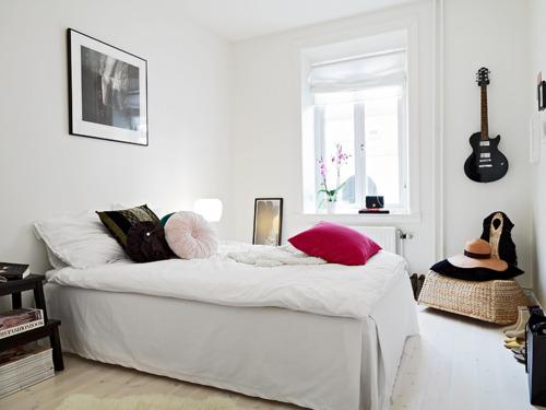 Urban home sweet home habitaciones blancas con un toque de color - Habitaciones juveniles blancas ...