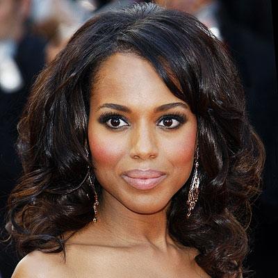 Kerry Washington L'actrice Afro-Americaine - Afro Coiffure - Coupes pour Homme et Femme Black