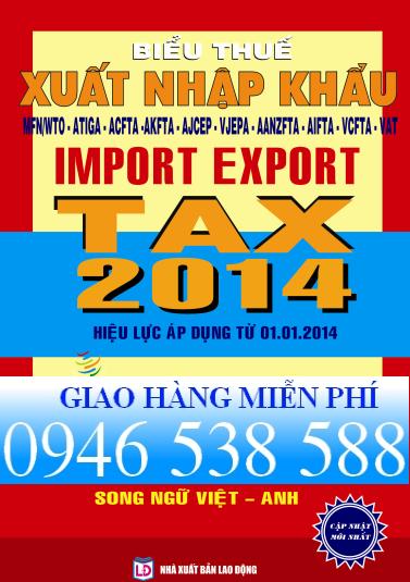 biểu thuế xuất nhập khẩu song ngữ 2014