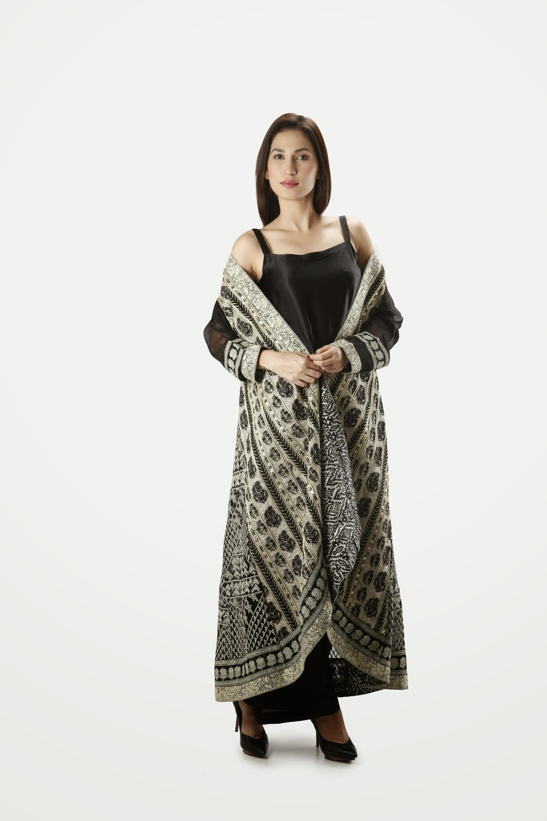 khaad khaas formal dress in black color 2015