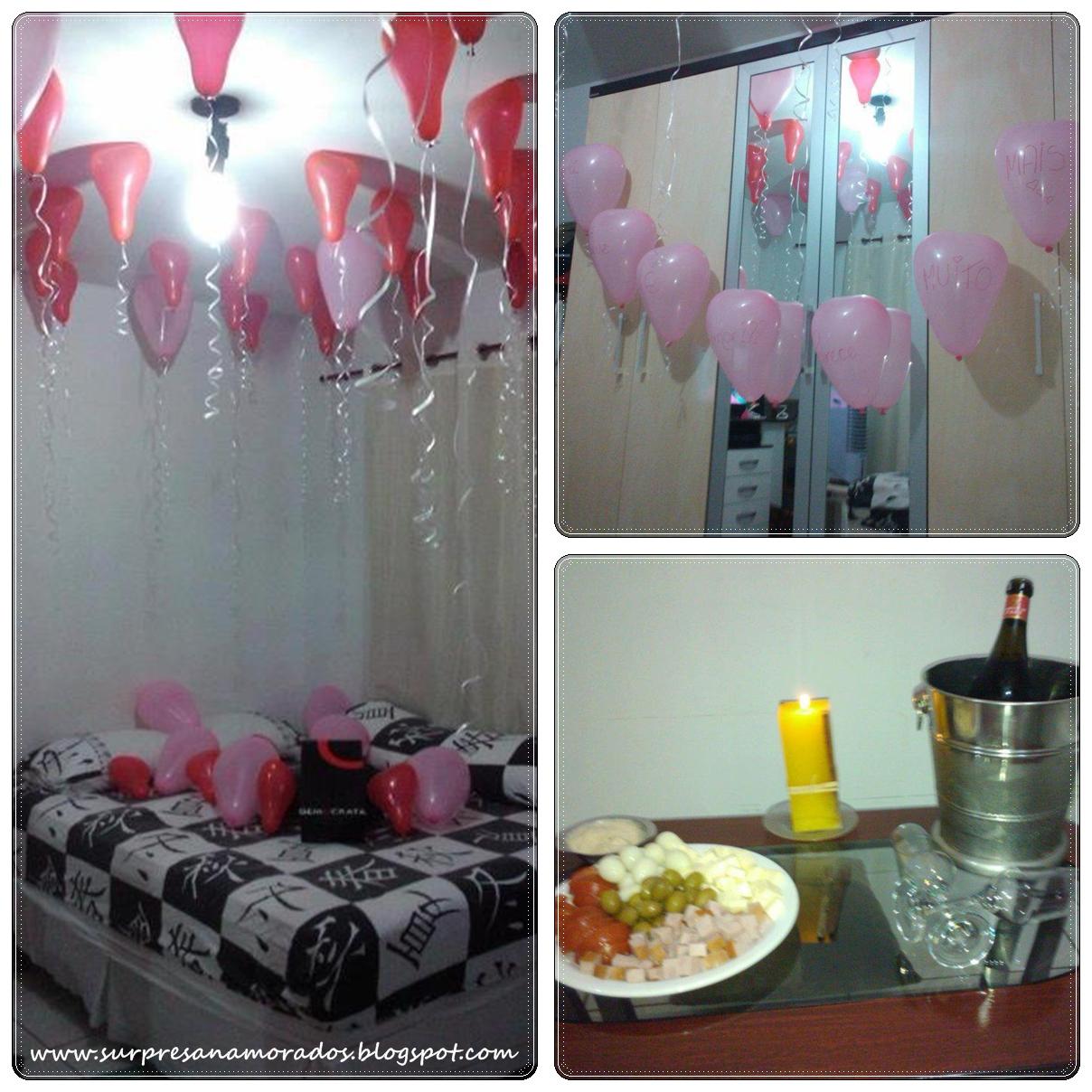 festa surpresa para o namorado