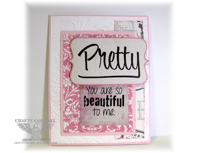 Crafty Colonel Donna Nuce, For Cards in Envy blog, Sentiment Club Scrap